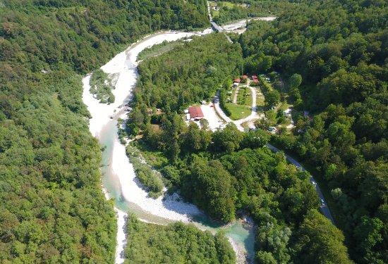 Kobarid, Slovenia: Kamp Lebanc - bird view