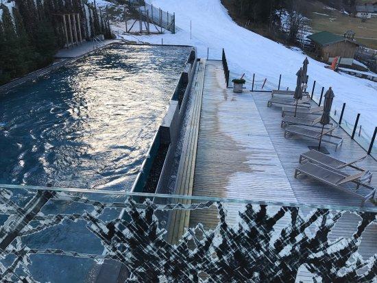 Leogang, Austria: Blick auf die Piste