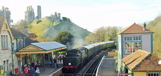 Swanage Railway: Corfe Castle Station 20 minute ride away from Swanage