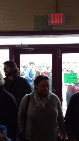 West Hartford, VT: The opening day crowd waiting for the doors open!