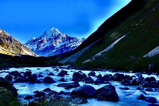 Mt. Cook Village, Nuova Zelanda: Early morning walk on Hooker Valley track
