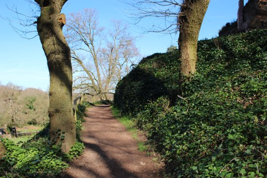 Stourbridge, UK: Path up to the top of the rocky outcrop