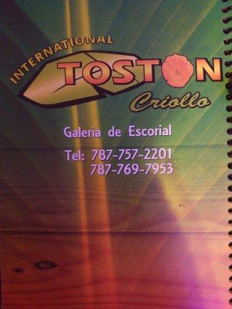 El Toston Criollo: Menu
