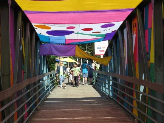 Bridge decorated for Artisphere