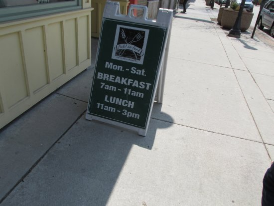 Sheboygan, WI: Open for Breakfast and lunch only.