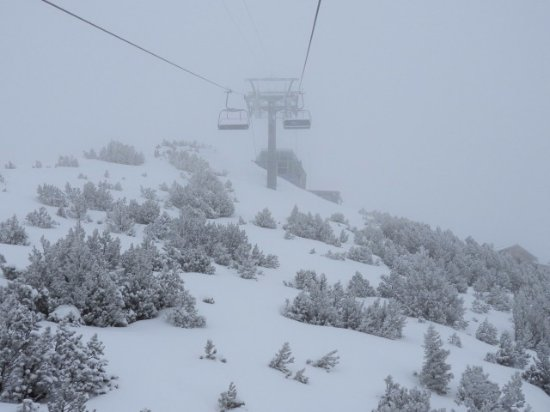 Sareis Chairlift: 上り途中の風景
