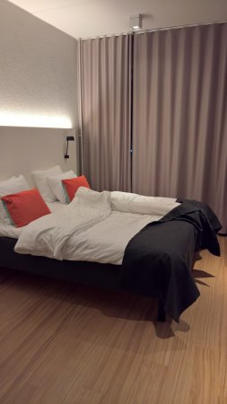 Vantaa, Finland: The bed (2 singles pushed together).
