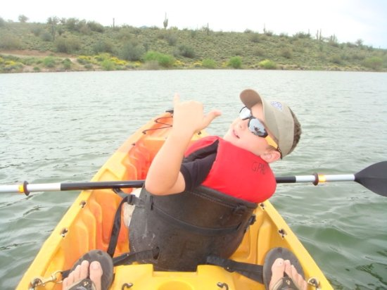First time paddler had super time on Lake Pleasant, AZ