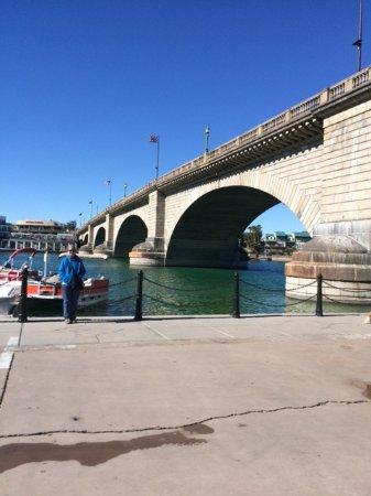 Lake Havasu City, AZ: The full expanse of the bridge.