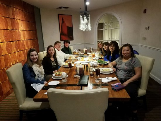 The Essex, Vermont's Culinary Resort & Spa: NEASEA Executive Board's first meal in private room