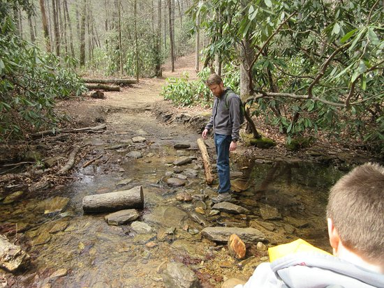Cashiers, NC: One of the two creek crossings