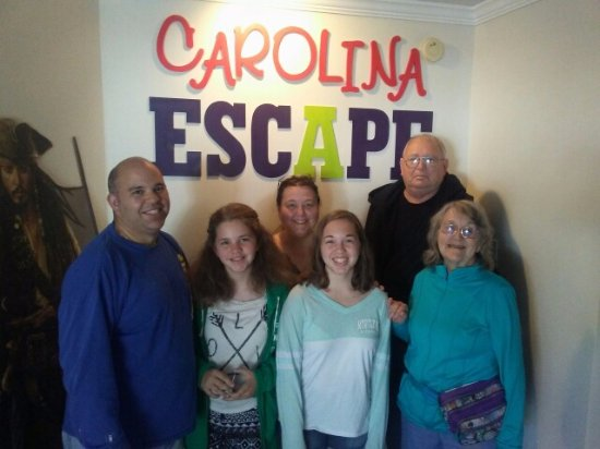 Garden City Beach, Южная Каролина: Family fun at Carolina Escape Games in Myrtle beach Garden City