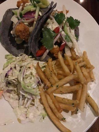 Del Mar, CA: Cod Fish Tacos with fresh fries