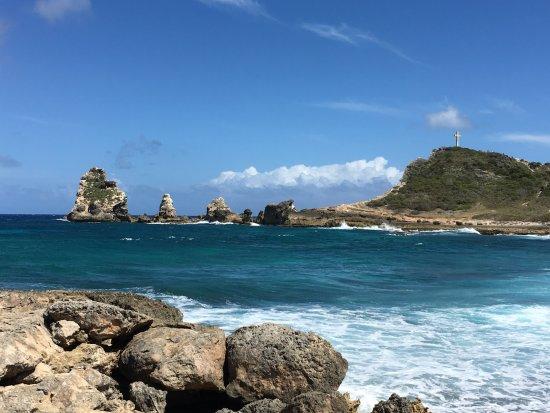Pointe des Chateaux: vue depuis la plage