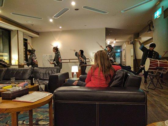 Myoko, Japonya: Taiko drumming performance