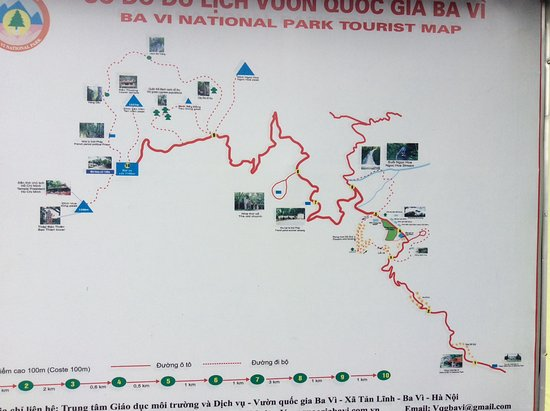 The map of the National Park - Picture of Ba Vi National Park, Hanoi