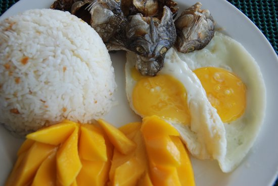 Cordova, Filippinerne: Philipino breakfst with dried fish