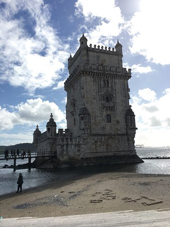 Photo of Historic Site Torre de Belém at Avenida Brasília - Belém, Lisbon 1400-038, Portugal