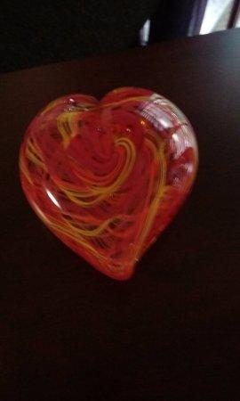 Jennifer Sears Glass Art Studio : The heart I made