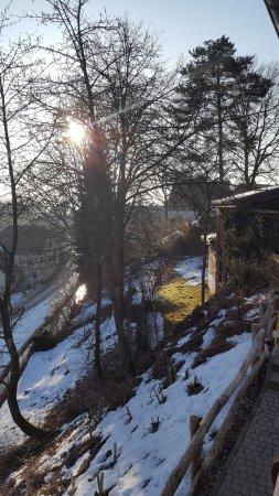 Sauerländer Hof: Vanaf het balkon kijkend naar rechts