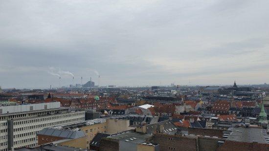 Rundetaarn: Vista desde la cima de Rundetårn (Torre Redonda)