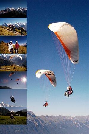 Matten bei Interlaken, Suiza: Switzerland Paragliding