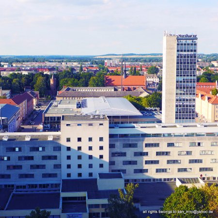 Neubrandenburg, Germany: The last view of Raddison Blue ... demolished in 2016