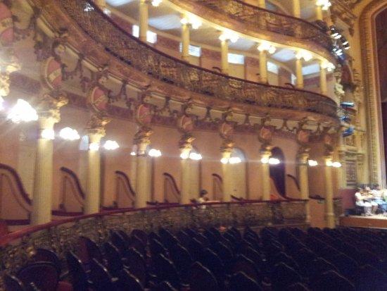 Théâtre Amazonas : Vista parcial interna esquerda do Teatro...