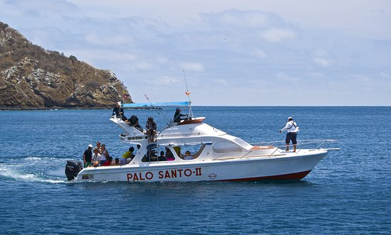 Puerto Lopez, Ecuador: Boat Palo Santo II. Very comfortable and safety with top deck. Isla de la Plata. Snorkel. Turtle