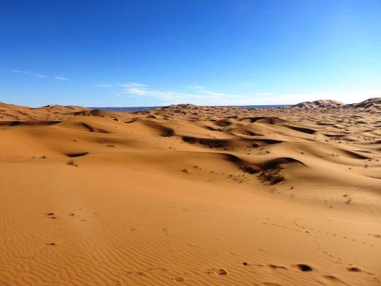 Erg Chebbi : color de las dunas por la mañana