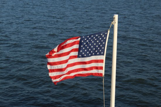 Galveston - Port Bolivar Ferry: 3 flag
