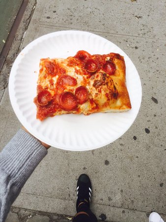 Photo of Italian Restaurant Prince St Pizza at 27 Prince St, New York City, NY 10012, United States