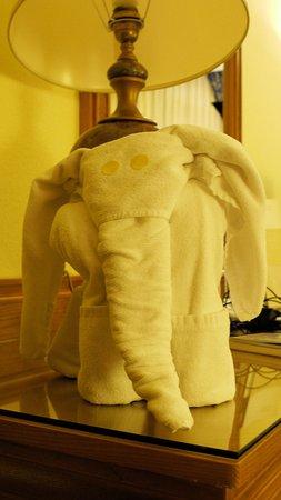 Hotel Riu Palace Maspalomas: Pliage des serviettes de bain