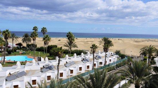 Hotel Riu Palace Maspalomas: Vue sur les dunes depuis une chambre