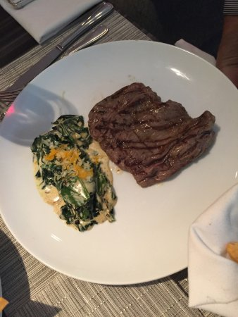 Le Meridien Mexico City: Arrachera with cream of spinach