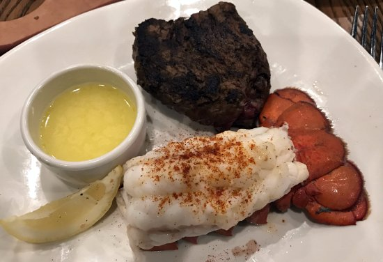 Merrillville, IN: filet & a small lobster tail
