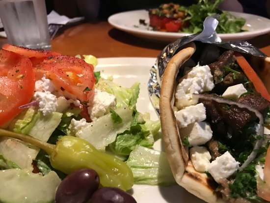 Hillsboro, Oregon: This is the small gyros -- there is a larger serving available