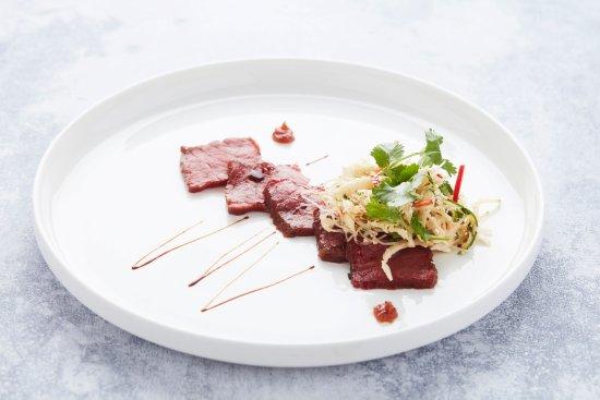 Lokeren, Belgio: Huisgepekeld rundsvlees, thai-style