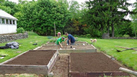 Greenville, ME: Preparing the gardens