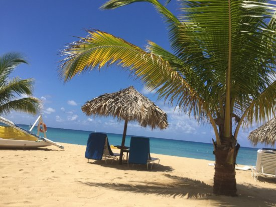 Jamaica Inn: A view of part of the beach taken from our terrace.