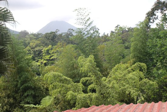 Princesa de la Luna Eco Lodge: View of Volcán Arenal!