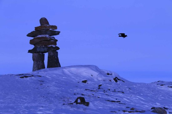 Rankin Inlet, Canadá: Inukshuk to the North