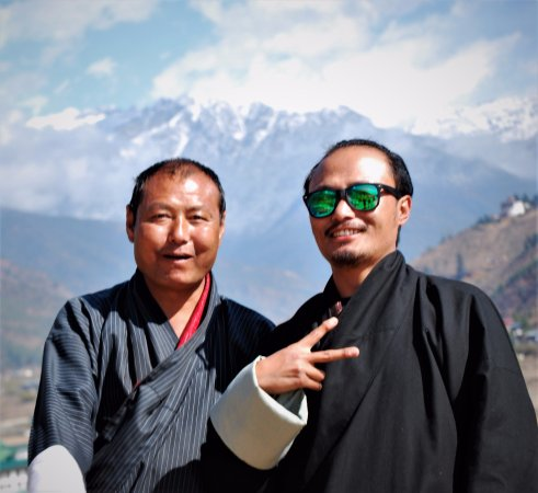 Bhutan Travel Club: Lama and NT-Two great guides and now our friends