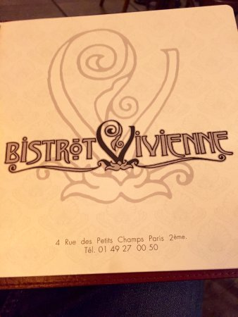 Photo of French Restaurant Bistrot Vivienne at 4 Rue Des Petits Champs, Paris 75002, France