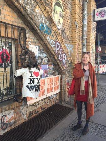 Alternative Berlin Tours: Alexandra and a lock on sculpture near Alexanderplatz