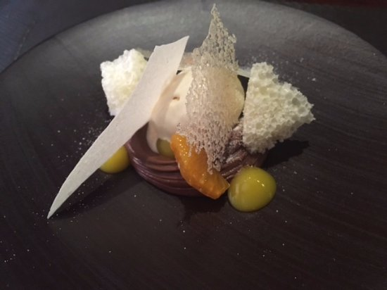 Anstruther, UK: Chocolate cream with Jerusalem artichoke ice cream