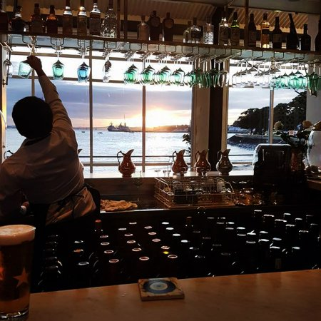 Devonport, New Zealand: Sunset from the Bar