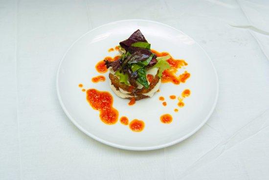 Flemington, Nueva Jersey: Green tomato and mozzarella