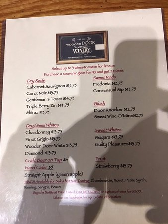 New Kensington, PA: Wine List