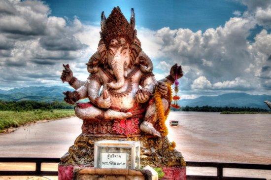 Chiang Saen, Thaïlande : Looking towards Myanmar